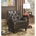 Coaster Accent Seating Upholstered Accent Chair with Diamond Tufting