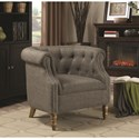 Coaster Accent Seating Barrel Back Accent Chair