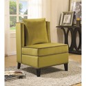 Coaster Accent Seating Contemporary Accent Chair with Contrast Piping