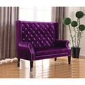 Coaster Accent Seating Extra Tall Winged Settee