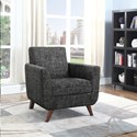 Coaster Accent Seating Mid-Century Modern Accent Chair with Angled Legs