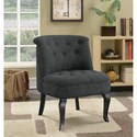 Coaster Accent Seating Traditional Accent Chair with Scrolled Tufted Back