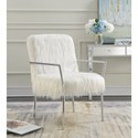 Coaster Accent Seating Contemporary Accent Chair with Faux Sheepskin