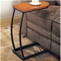 Coaster Accent Tables Distressed Oak Snack Table with Black Metal Base