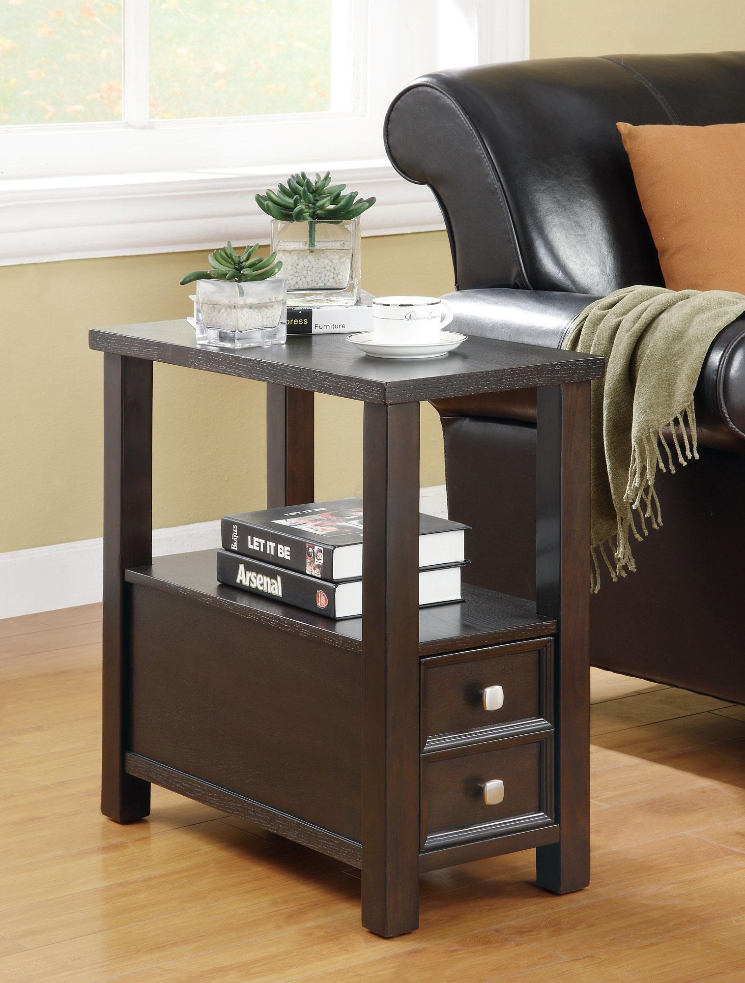 Accent Tables Chairside Table by Coaster at Nassau Furniture and Mattress