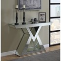 Coaster Accent Tables Contemporary Console Table with Triangle Base