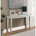 Coaster Accent Tables Contemporary Console Table with Mirrored Panels