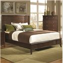 Coaster Addley King Low Profile Bed with Panel Headboard - Bed Shown May Not Represent Exact Size Indicated