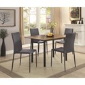 Coaster Adler Stackable Gray/Black Dining Chair