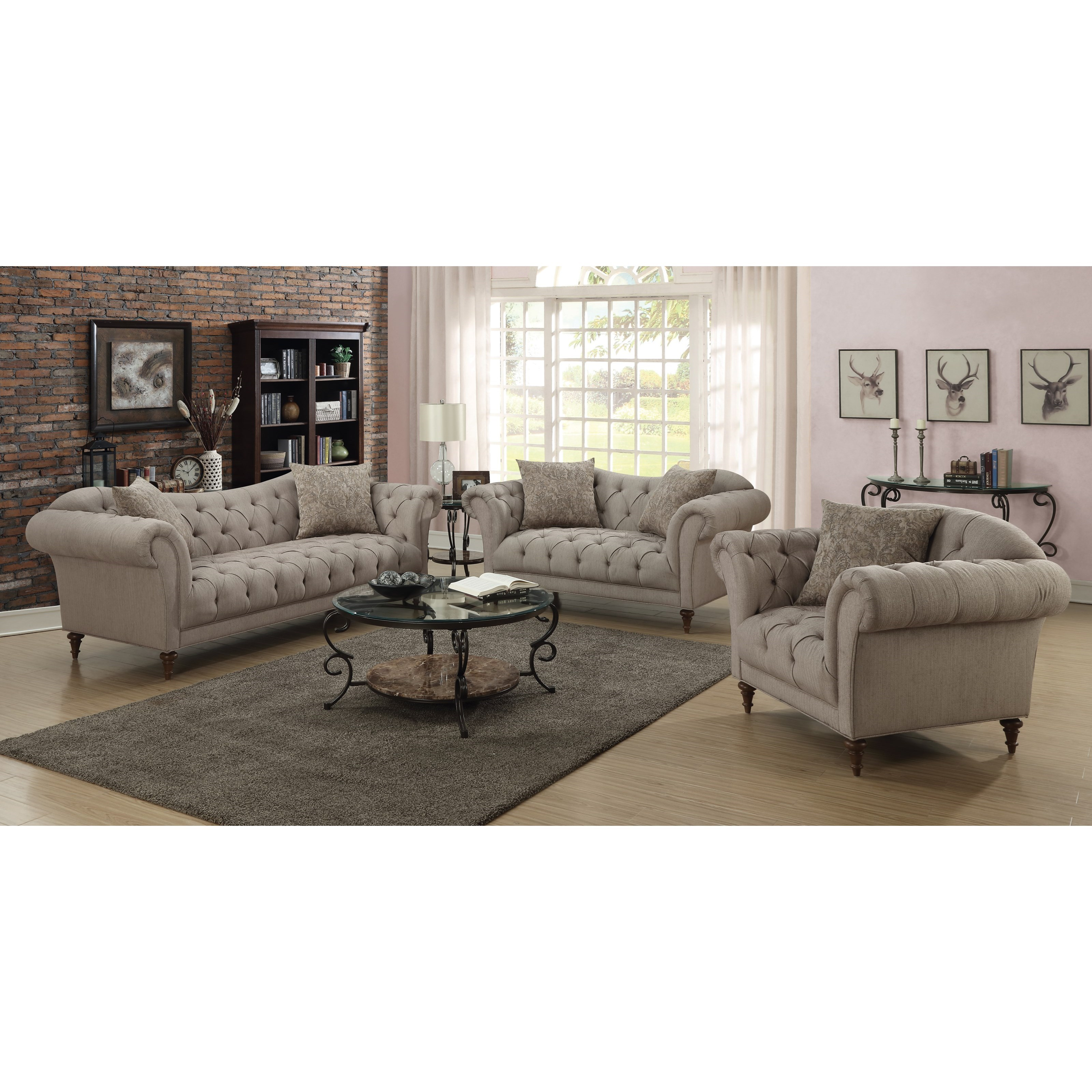 Alasdair Stationary Living Room Group by Coaster at Value City Furniture