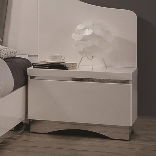 Coaster Alessandro One Drawer Nightstand - Item Number: 205002