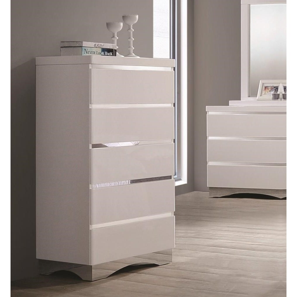 Coaster Alessandro 5 Drawer Chest - Item Number: 205005