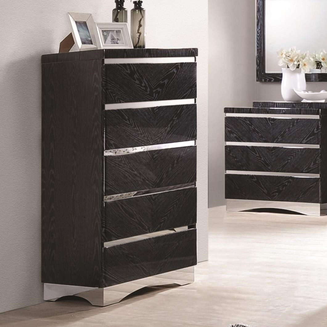 Coaster Alessandro 5 Drawer Chest - Item Number: 205025