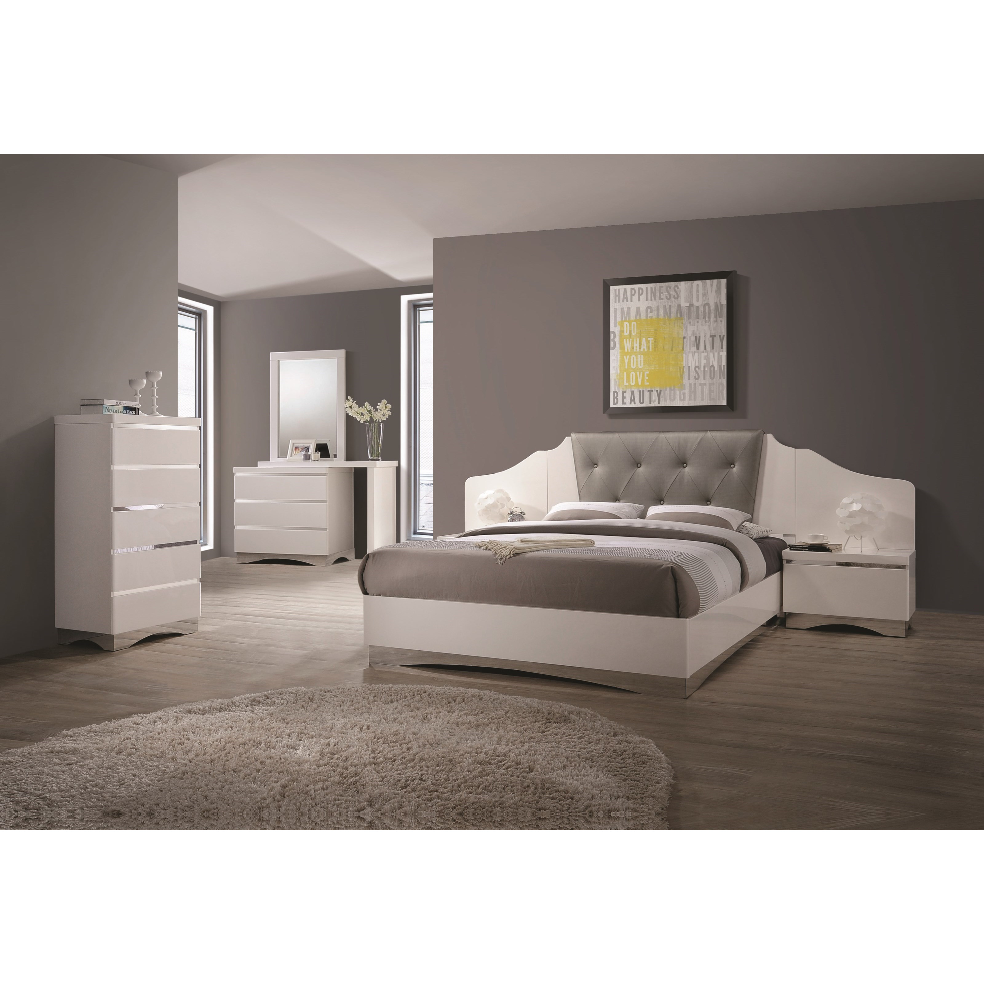 Coaster Alessandro Queen Bedroom Group - Item Number: Q 2050 W Bedroom Group