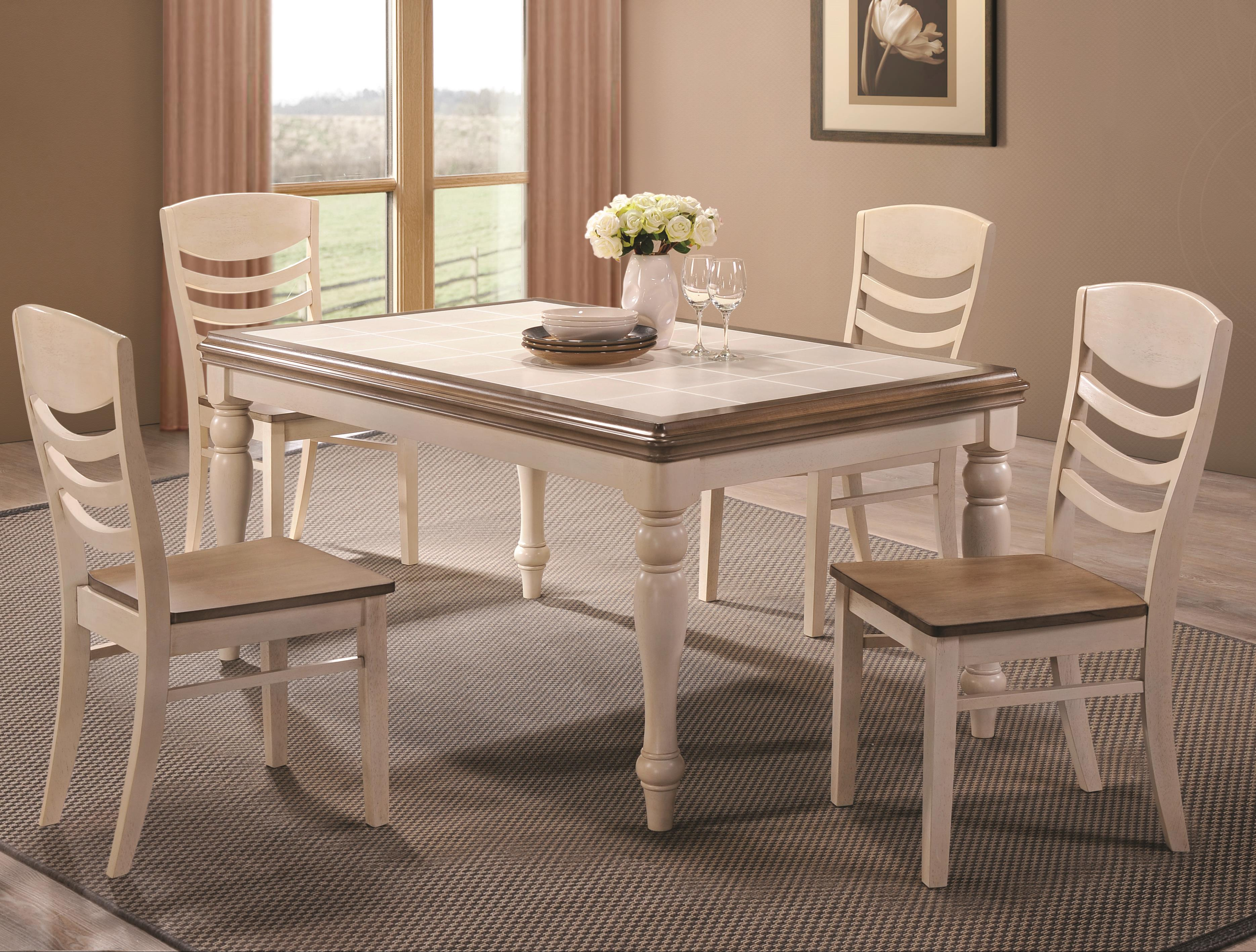 Coaster Allston 5 Pc. Table & Chair Set - Item Number: 106451+452