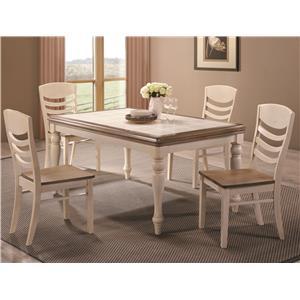Coaster Allston 5 Pc. Table & Chair Set