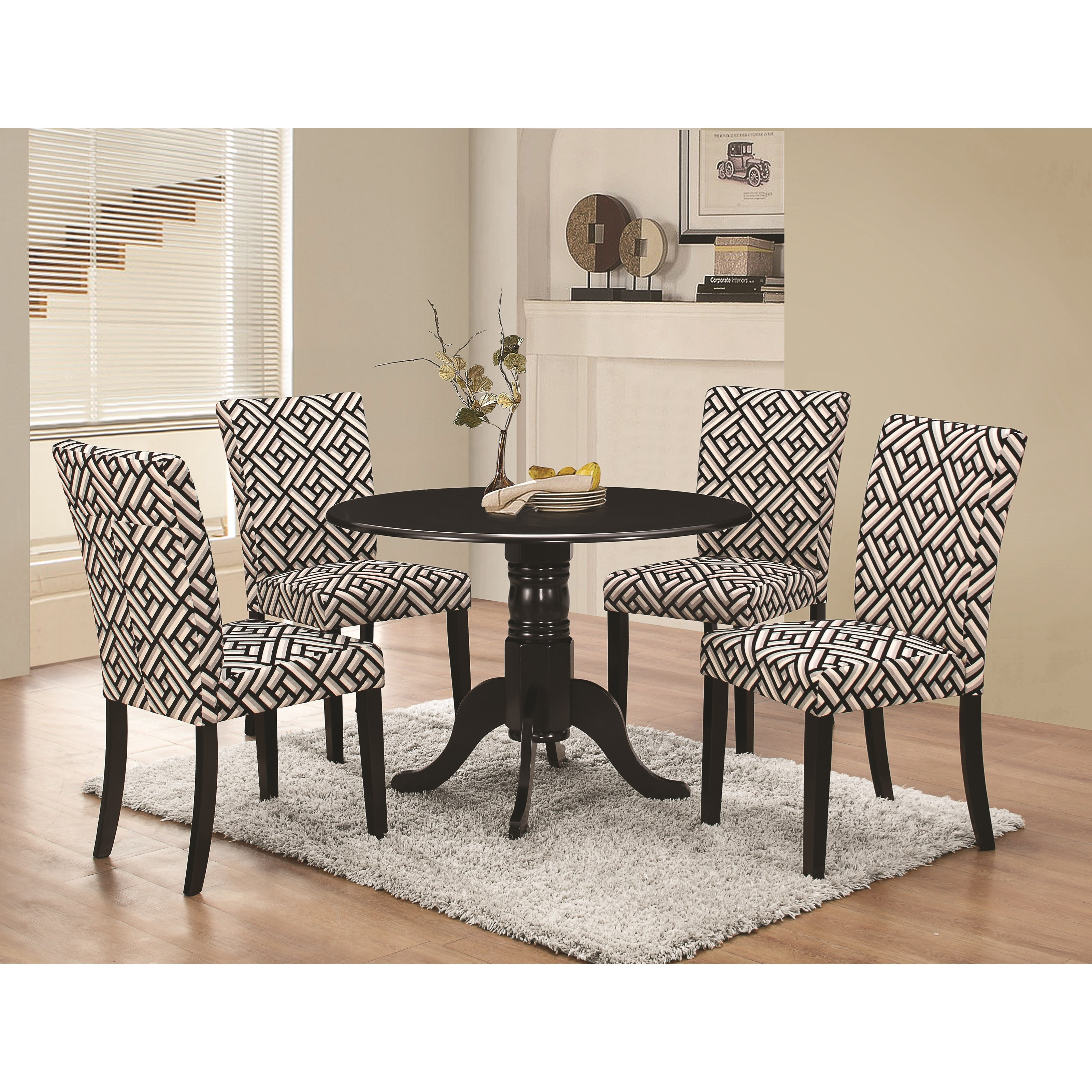 Coaster Allston 5 Pc Table & Chair Set - Item Number: 106761+4x106762
