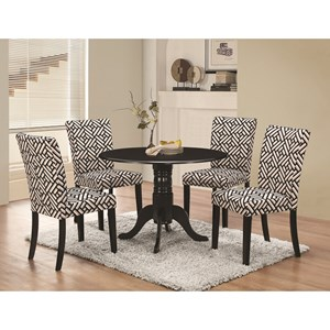5 Pc Table & Chair Set