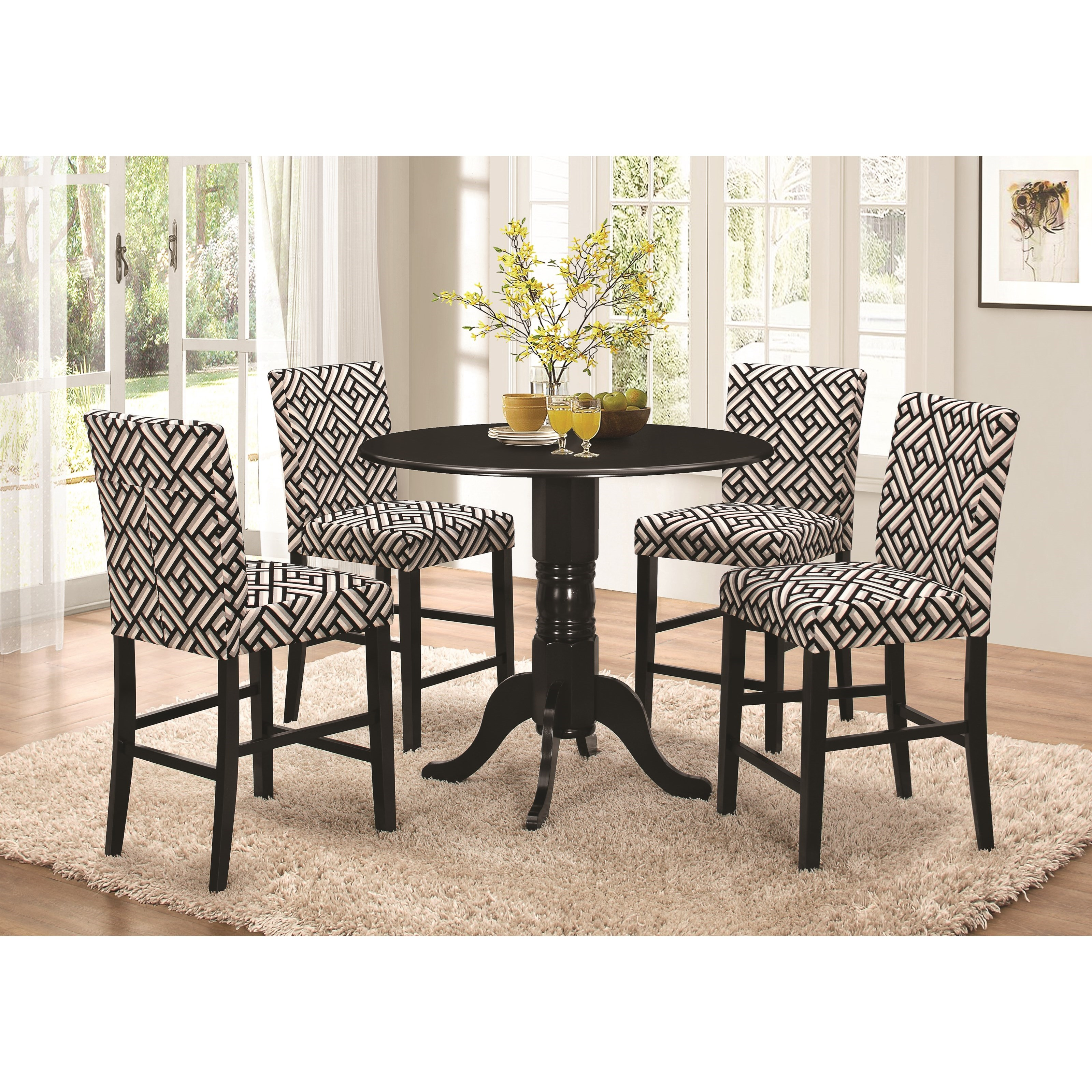 Coaster Allston Counter Height Dining Set   Item Number: 106768+4x106769
