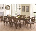 Coaster Alston Table and Chair Set - Item Number: 107241+10x106382