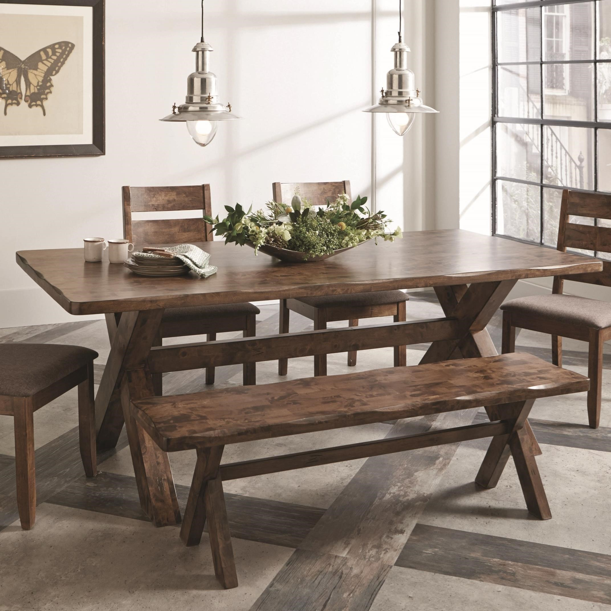 coaster alston rustic dining table with wavy edge value city