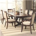 Coaster Alyssa Dining Table and Chair Set - Item Number: 105441+4x105442+2x105442