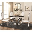 Coaster Anchorage 5 Piece Dining Table Set - Item Number: 107891+4x107872