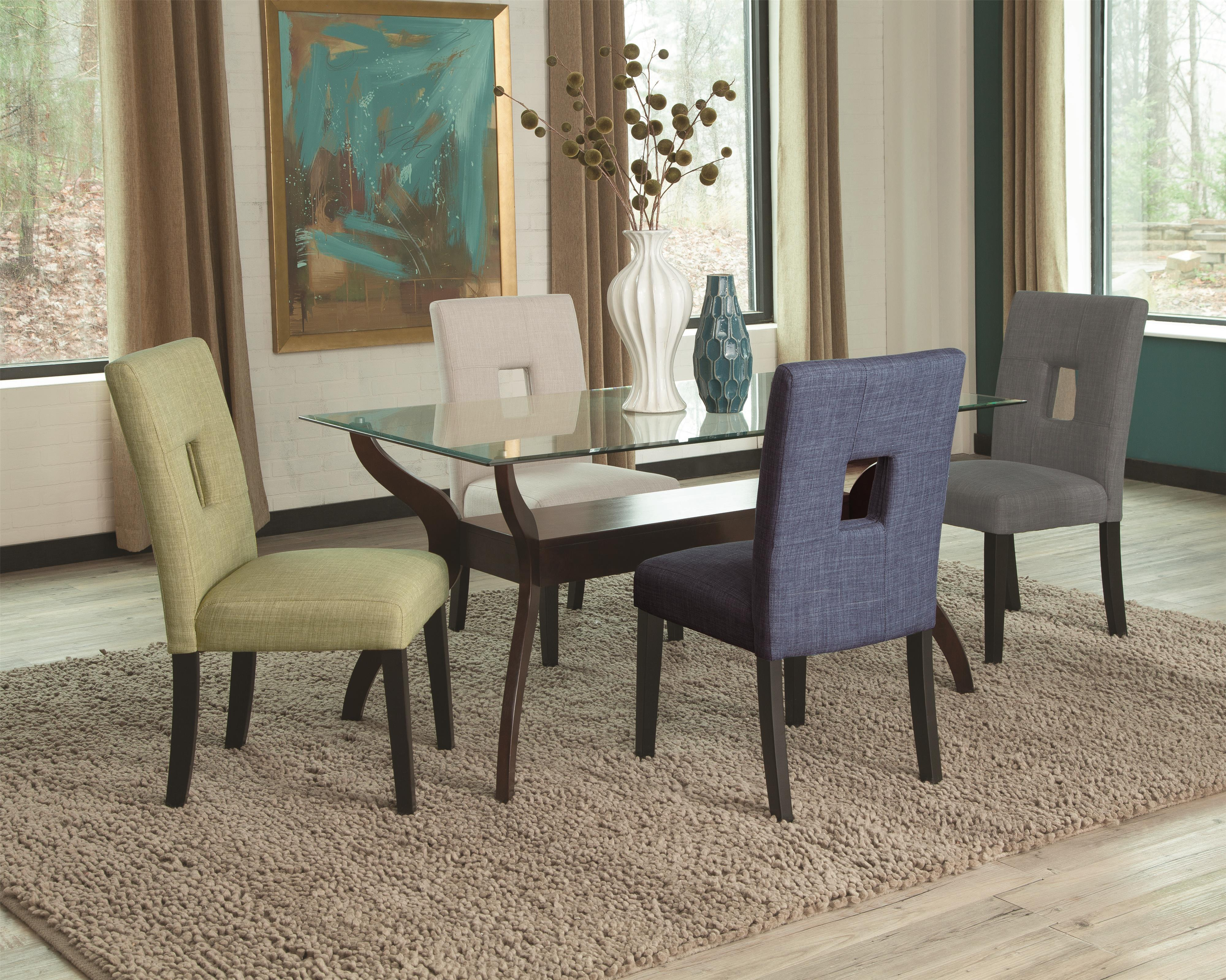 Coaster Andenne 5 Piece Dining Table Set - Item Number: 106501T+106652+53+54+56
