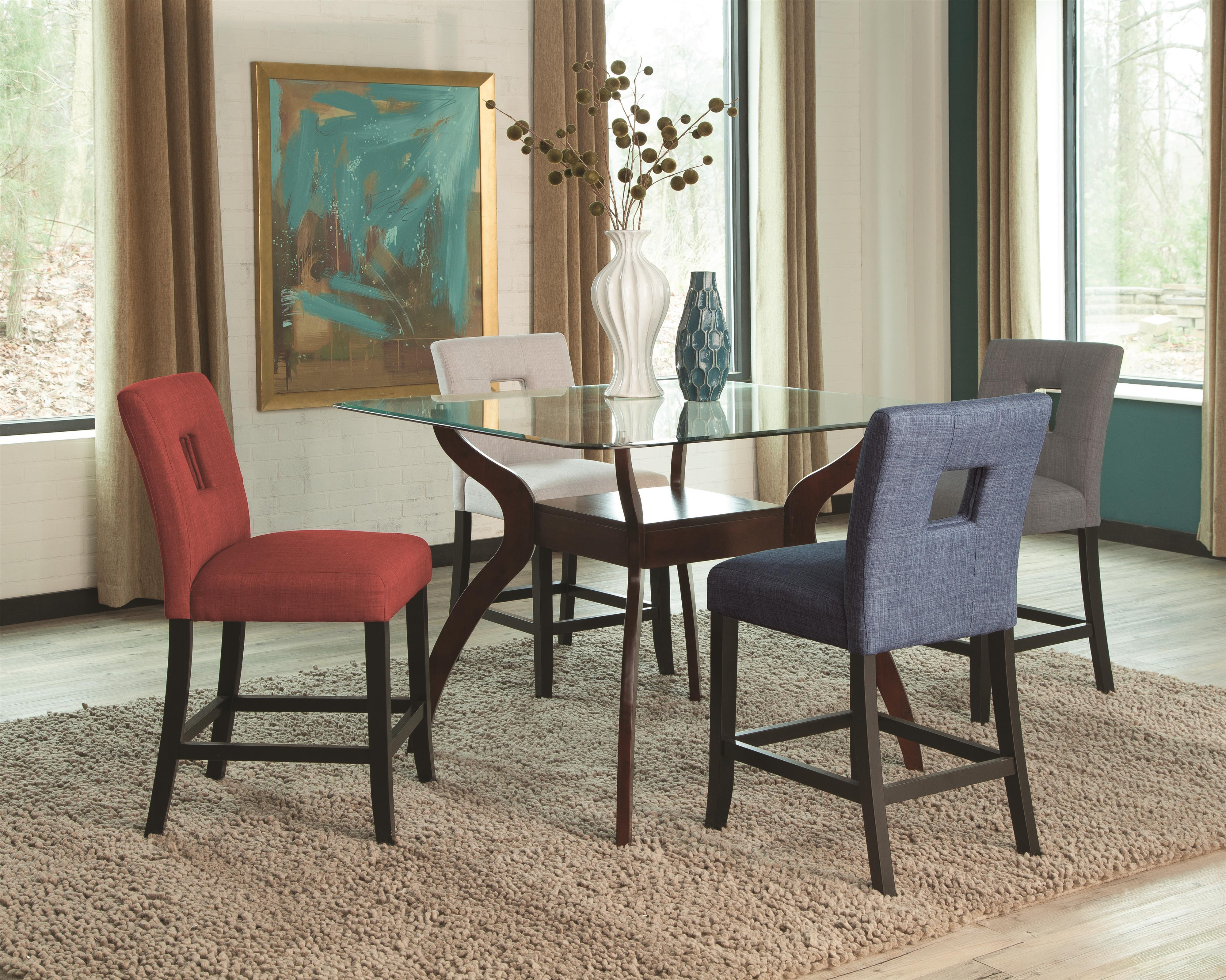 Coaster Andenne 5 Piece Counter Table Set - Item Number: 106508T+106672+74+75+76