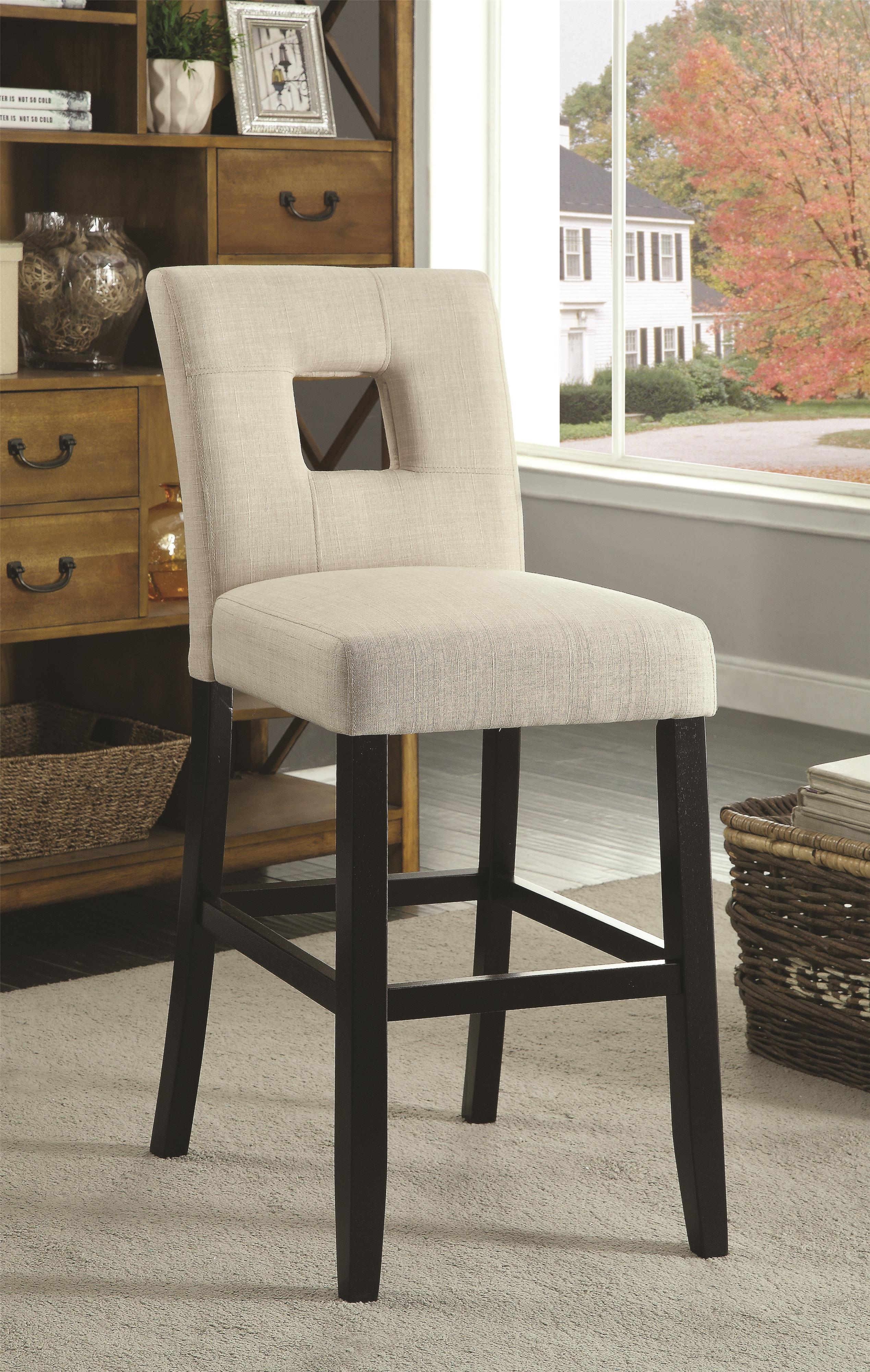 Coaster Andenne Counter Height Chair with Square Cutout in Seat