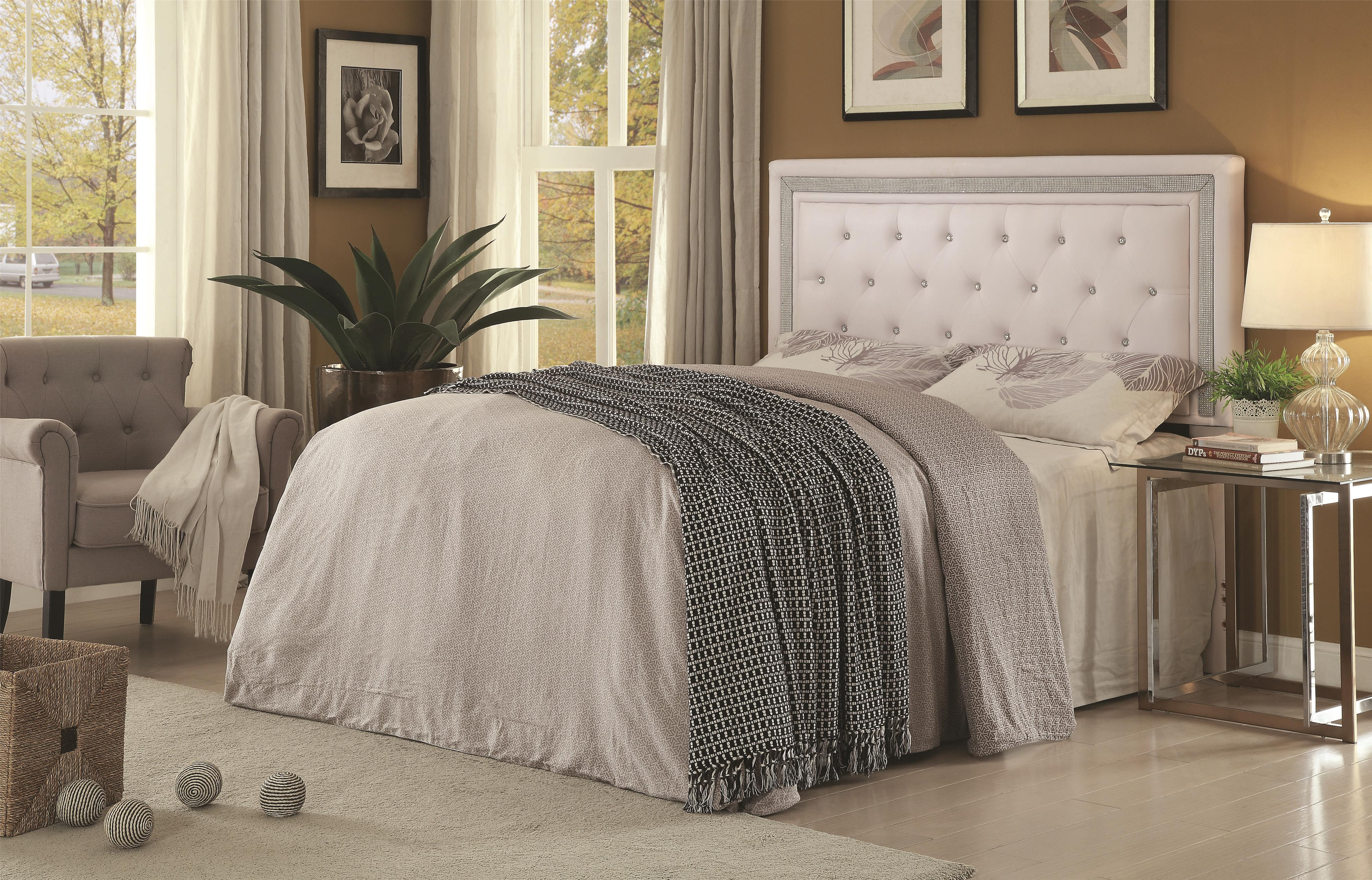 Coaster Andenne Bedroom Glamorous Contemporary Queen Full