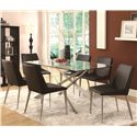 Coaster Anderson Contemporary Glass-Topped Dining Table
