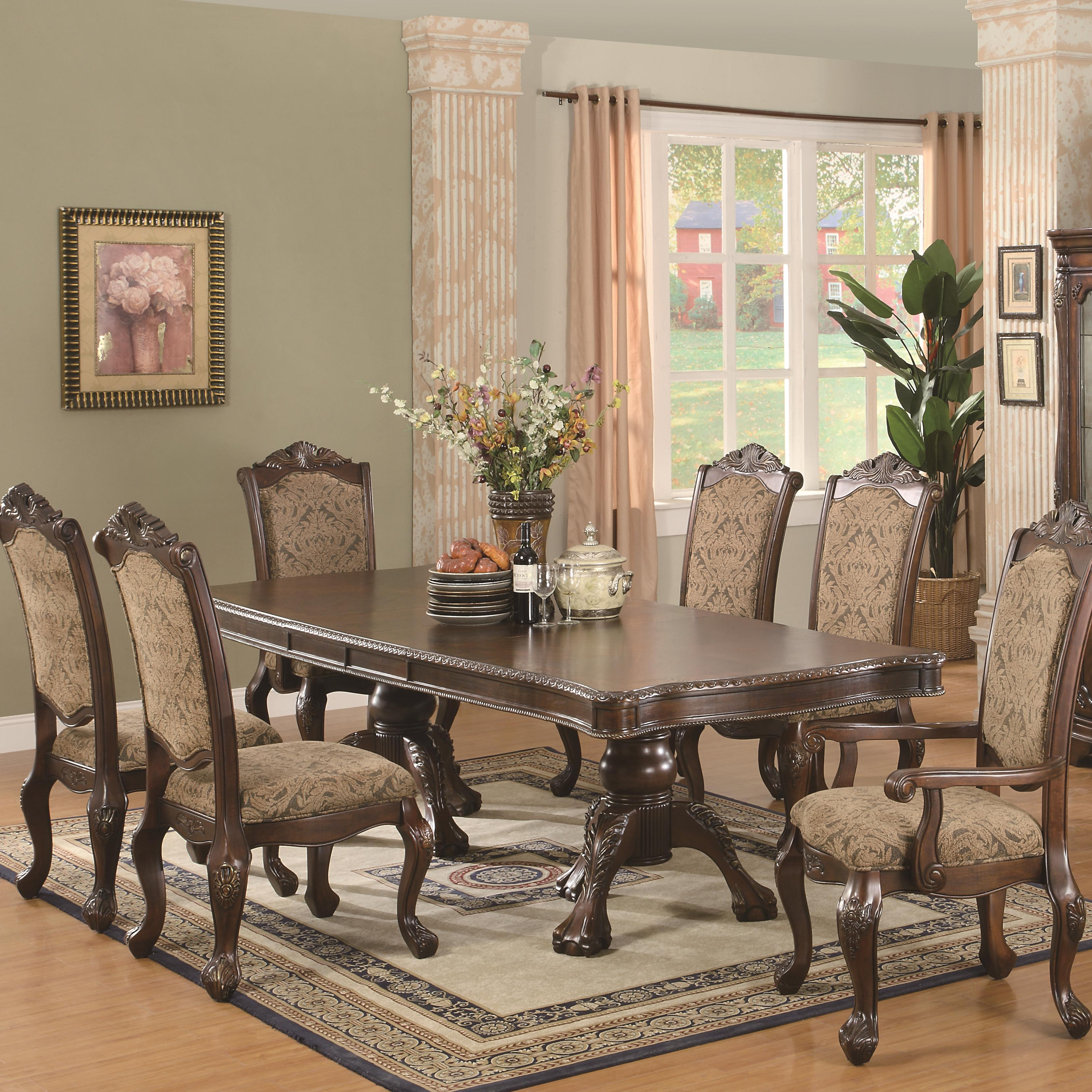 Coaster Andrea 7 Piece Table and Chair Set - Item Number: 103111+103112x4+103113x2