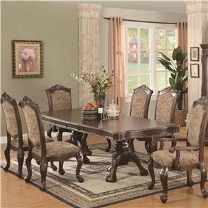 Coaster Andrea 7 Piece Table and Chair Set