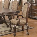 Coaster Andrea Cushion Seat And Back Rolled Arm Dining Chair - 103113