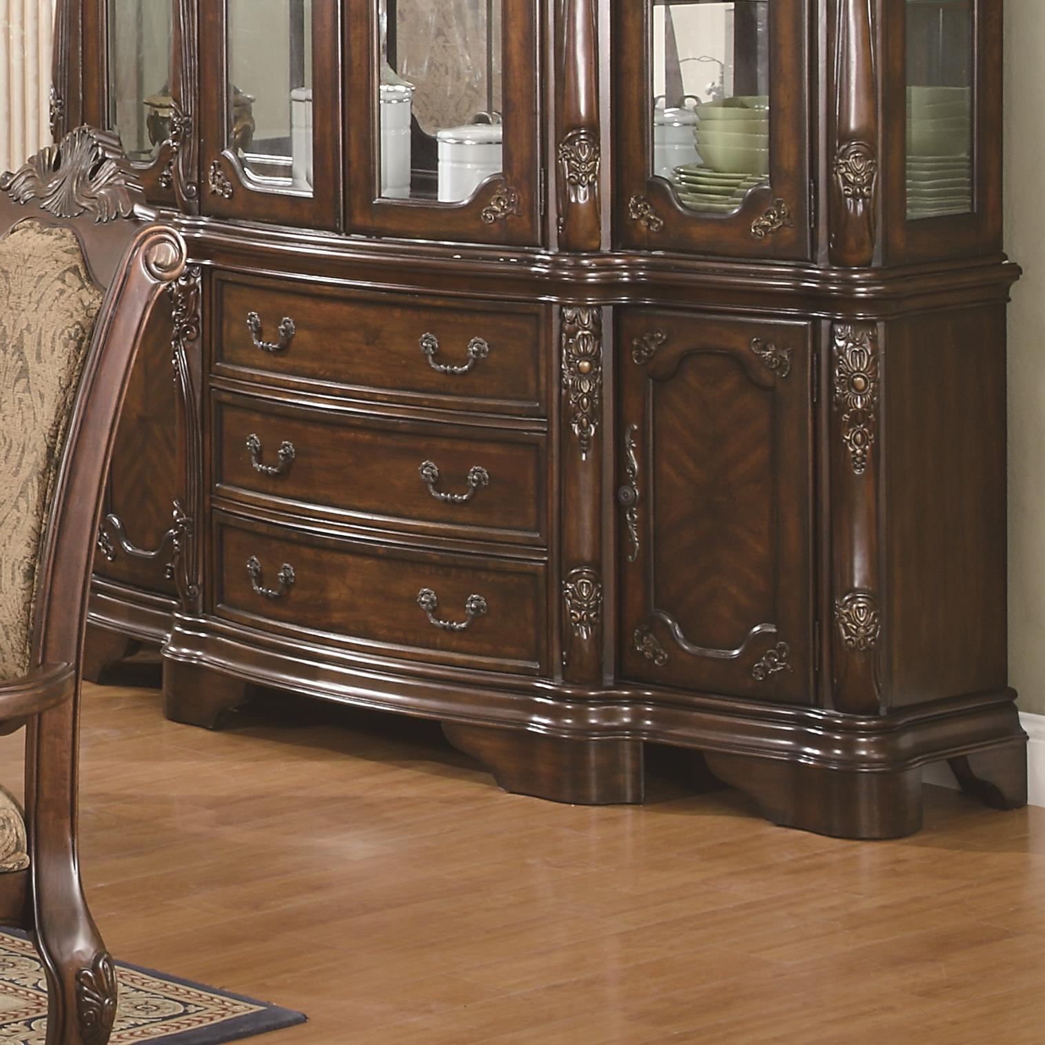Andrea Formal Dining Room Set Coaster Furniture: Coaster Andrea 103114B Traditional Dining Buffet
