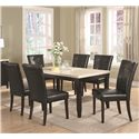 Coaster Anisa 7 Piece Dining Table and Chairs Set