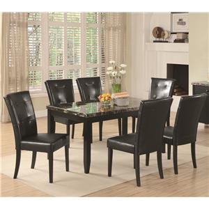 Coaster Anisa 7 Piece Dining Table Set