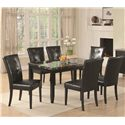Coaster Anisa 7 Piece Dining Table Set - Item Number: 102791+6x102772