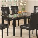 Coaster Anisa Dining Table with Black Faux Stone Top - Item Number: 102791