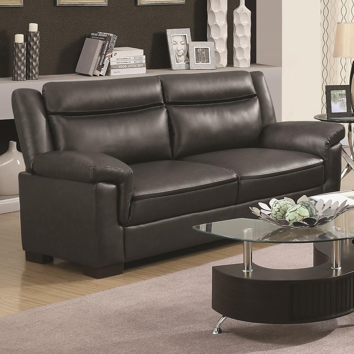 Coaster Arabella Contemporary Leatherette Sofa Value City