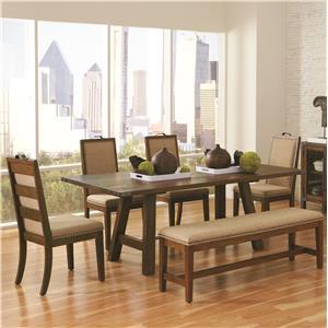 Coaster Arcadia 6 Piece Table & Chair Set