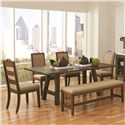 Coaster Arcadia 6 Piece Table & Chair Set - Item Number: 105681+4x105682+105683