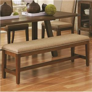Coaster Arcadia Upholstered Dining Bench
