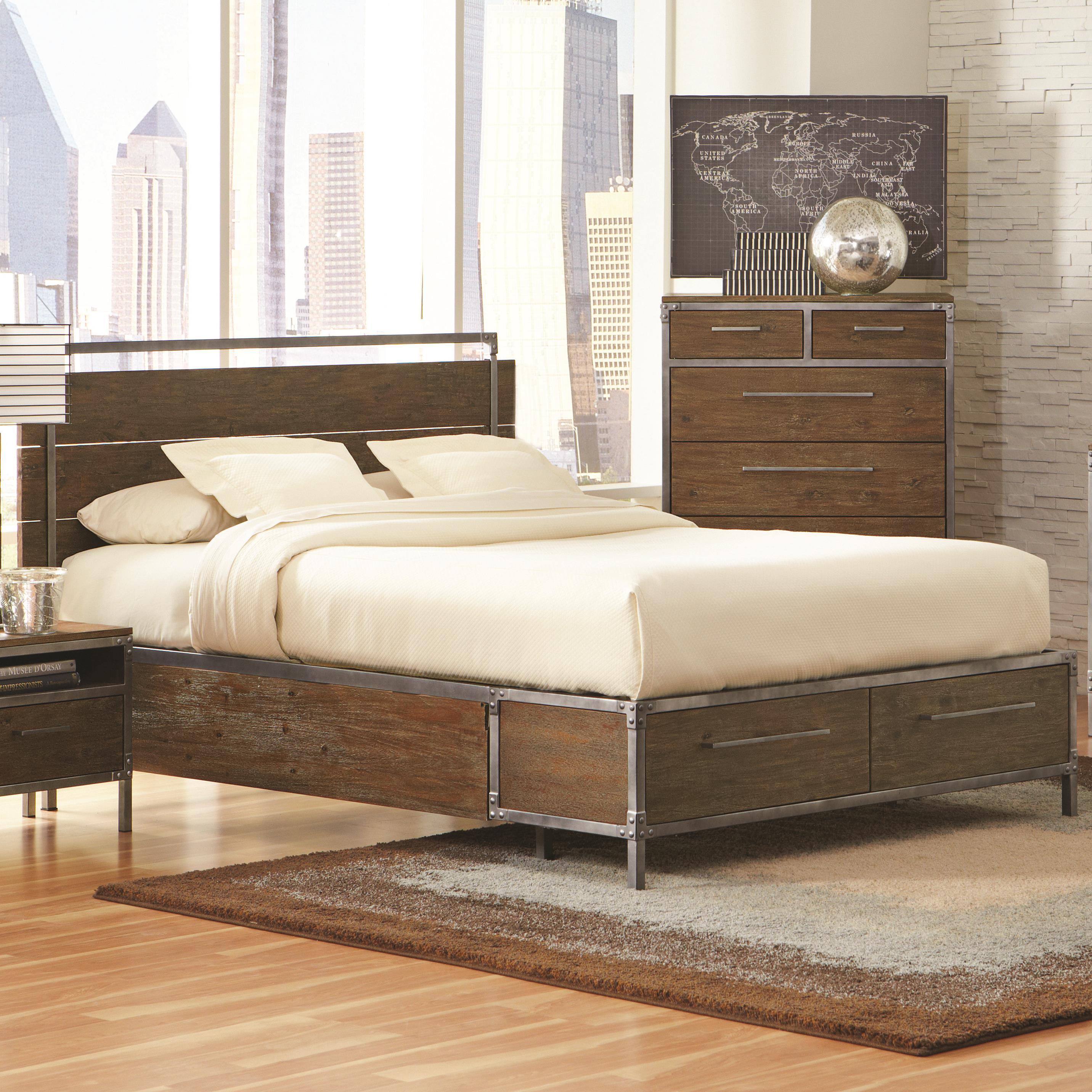 Coaster Arcadia 20380 King Platform Bed - Item Number: 203801KE