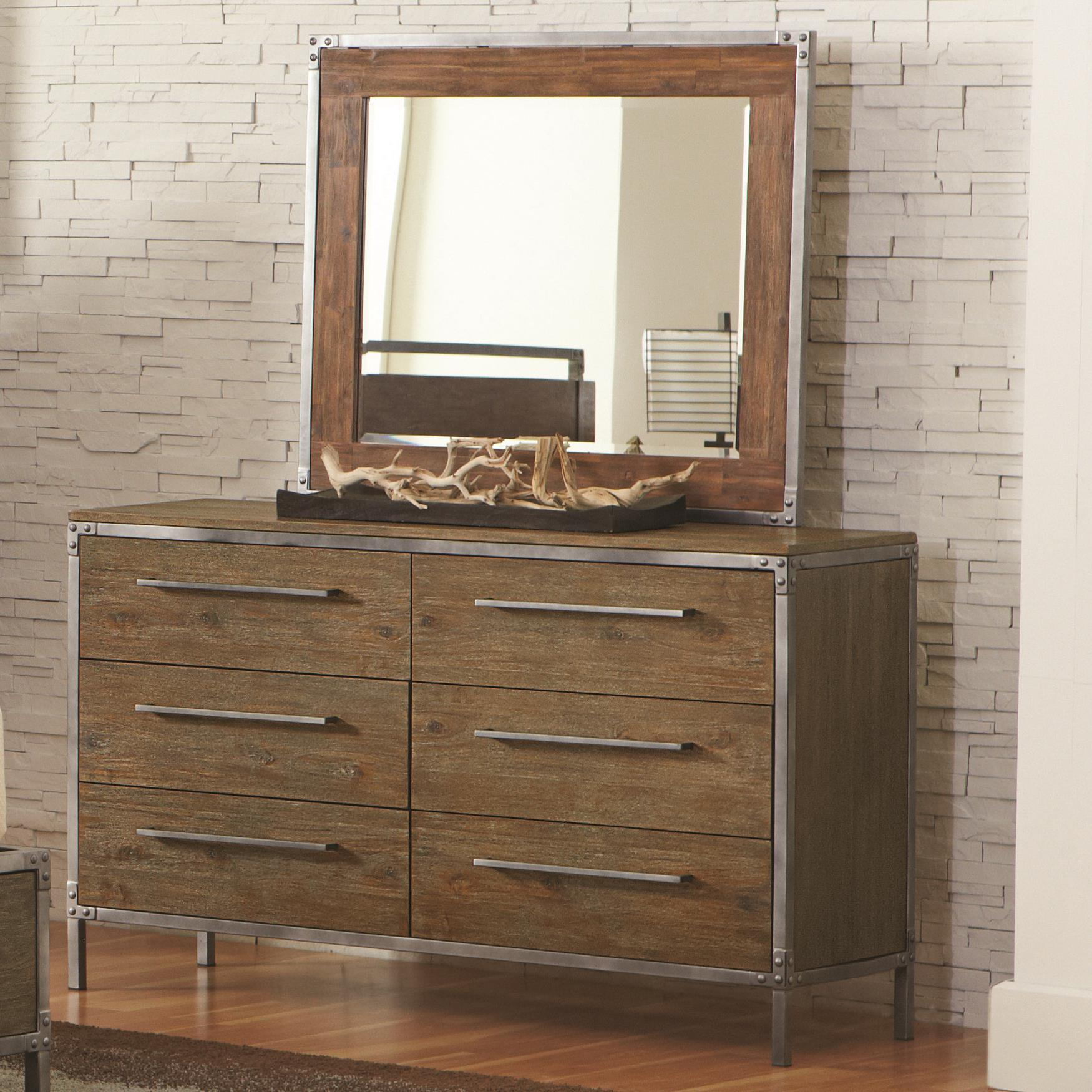 Coaster Arcadia 20380 6 Drawer Dresser & Mirror - Item Number: 203803+203804