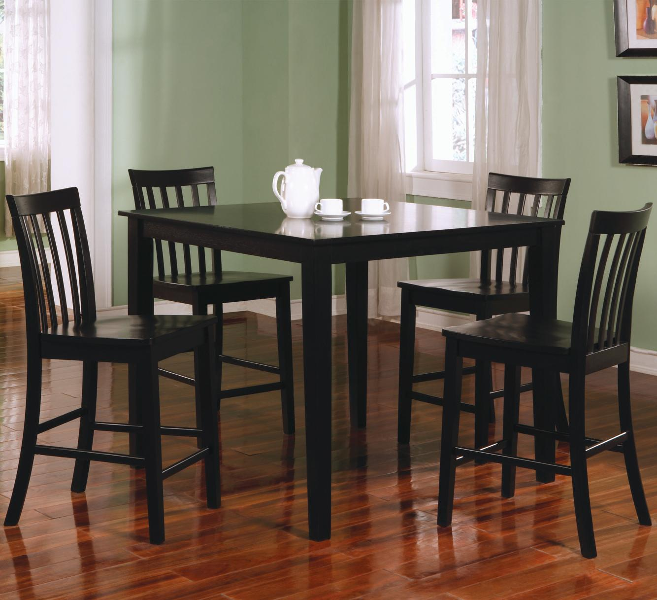 Coaster Ashland 5 Piece Counter Height Dining Set - Item Number: 150231BLK