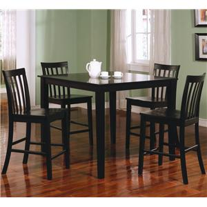Coaster Ashland 5 Piece Counter Height Dining Set