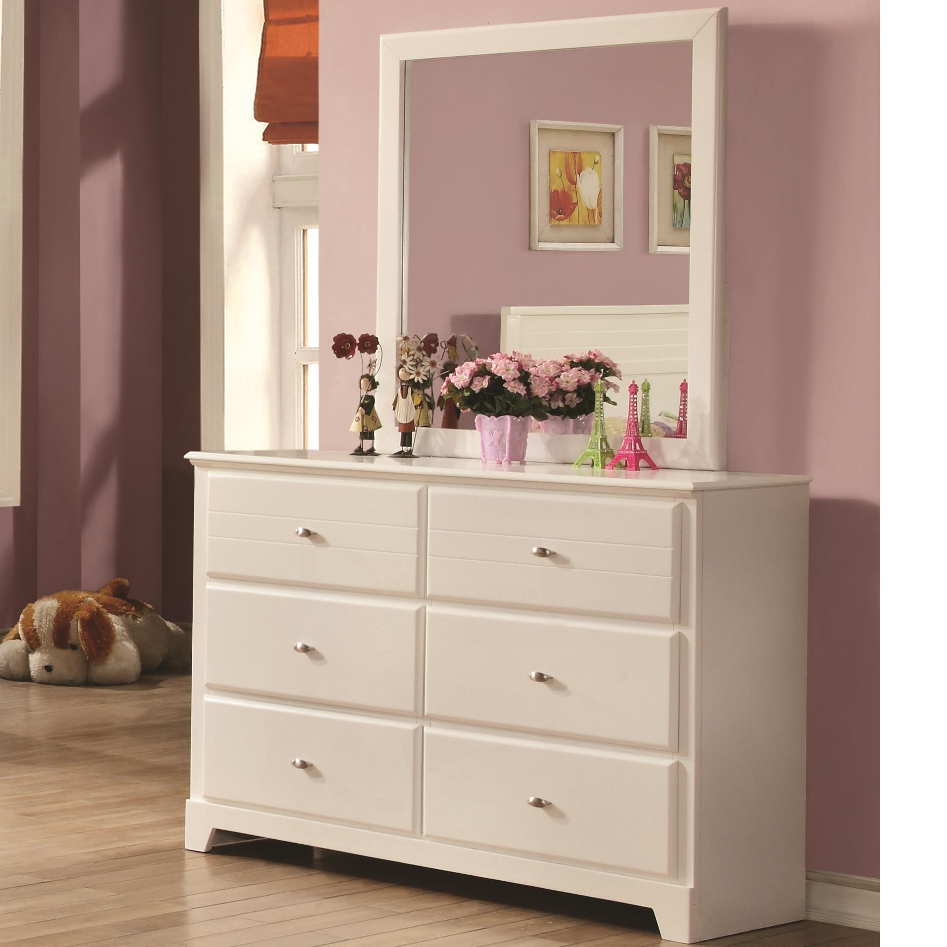 Coaster Ashton Collection Dresser and Mirror - Item Number: 400763+400764