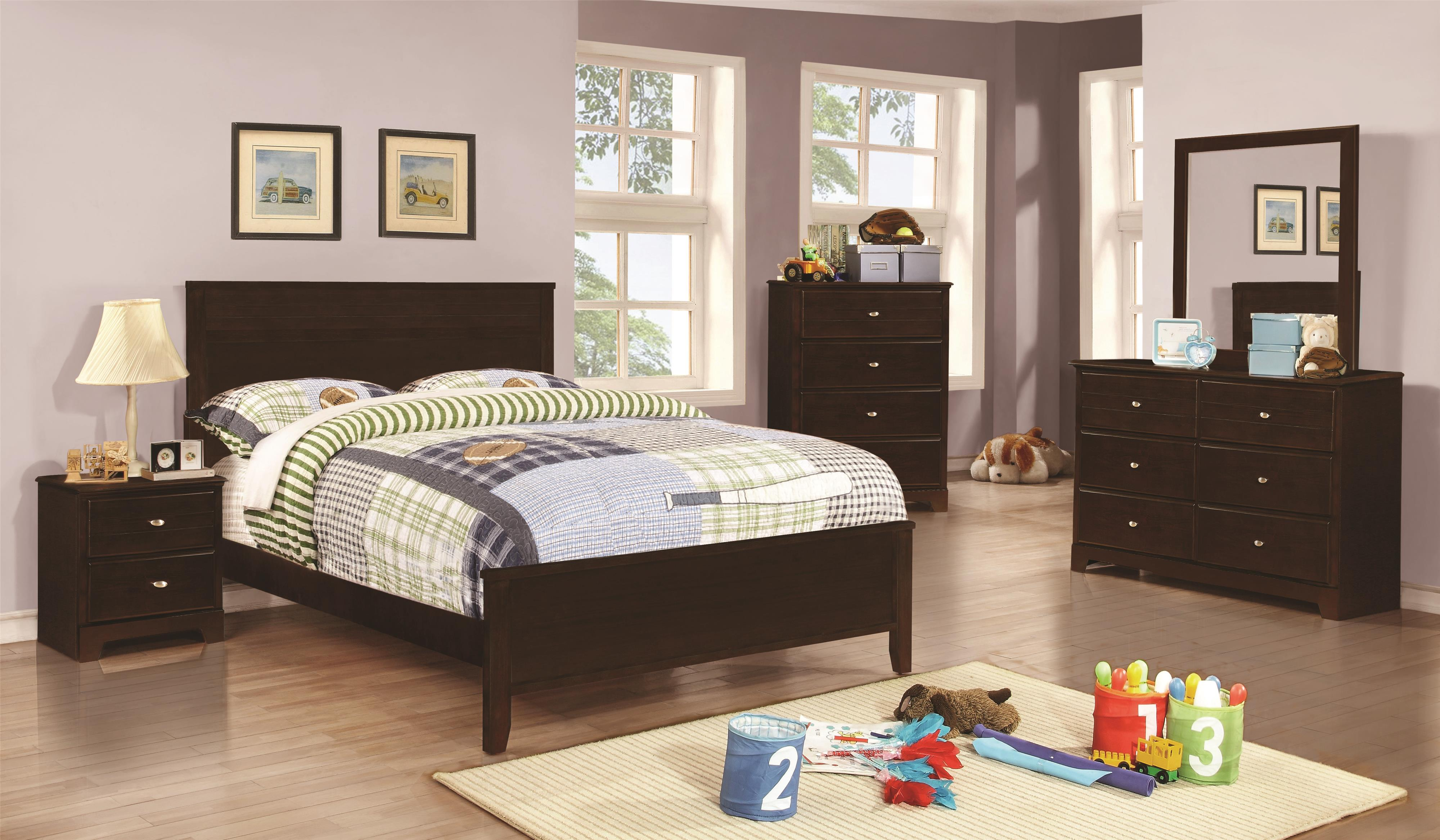 Coaster Ashton Collection Twin Bedroom Group - Item Number: 40077 T Bedroom Group 1